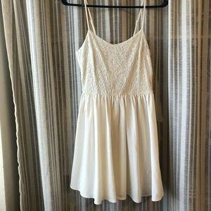 White Floral Summer Dress